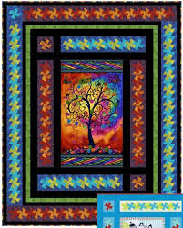 63 best Quilts - panels images on Pinterest | Cards, Crafts and ... & Panel Twist Quilt Pattern by Quilt Moments at KayeWood.com xox Adamdwight.com