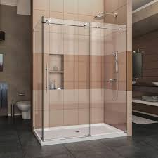 DreamLine Enigma X In X 76 In Frameless Corner Sliding Shower Enclos