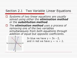 section 2 1 two variable linear equations