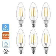 tenergy dimmable led candelabra light bulbs 4w 40 watt equivalent warm white soft