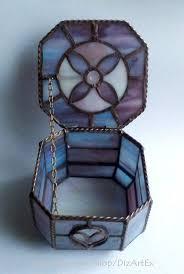 <b>Box</b> with heart. <b>Box</b> for jewelry. Stained Glass. Handmade. <b>Home</b> ...