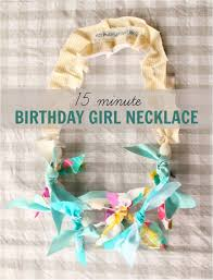 15 minute diy birthday girl necklace tutorial minimal sewing involved and my 3 year old