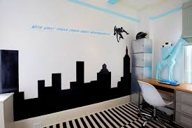 astonishing boys bedroom ideas city wall silhouette tall chest of drawer smlfimage via astonishing boys bedroom ideas