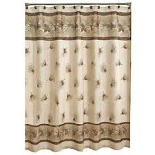 70 in pinehaven fabric shower curtain