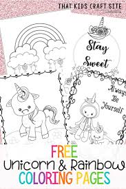 A great set of printable rainbow coloring pages to give your little one. Free Printable Unicorn Coloring Pages That Kids Craft Site