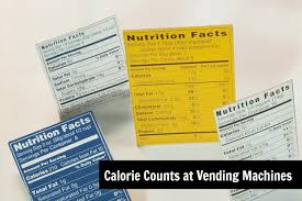 Vending Machine Nutrition Facts Cool Now Serving Calorie Counts At Vending Machines USConnect Blog