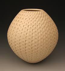 Michael Wisner Tan Dovetail Weave By Michael Wisner Ceramic Vessel Artful Home