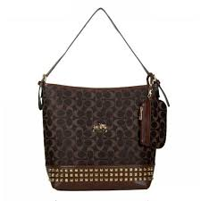 Cheap And Fashionable Coach Legacy Duffle In Stud Signature Medium Coffee  Shoulder Bags BDD Makes You More Elegant And Outstanding!