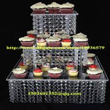 acrylic crystal chandelier wedding square cake stand 3 tier dessert throughout square wedding cake stand