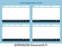Clipart Of Tv Commercial Storyboard Template X6 K24424681 Search