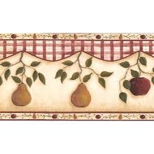 l x w apple pear on vine kitchen bathroom extra wide retro ign wallpaper border borders uk