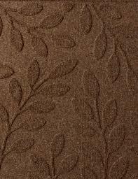 half round laurel leaf water glutton door mat dark brown