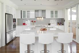 All White Kitchen Designs Decoration Simple Design
