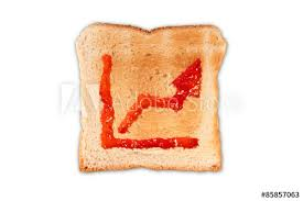 Toast Chart Toast With Jam In Shape Of A Chart Buy This Stock Photo