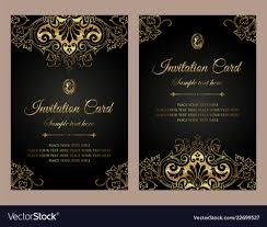 Corporate Invitation Card Format Invitation Card Luxury Gold Template Design