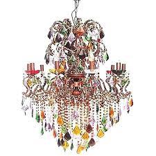multi colored crystal chandelier chandelier captivating colored chandelier multi