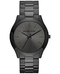 michael kors mens watches macy s michael kors men s slim runway black ion plated stainless steel bracelet watch 44mm mk8507