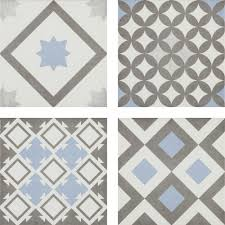 vibe patterned wall and floor tiles 223 x 223mm feature large image vibe light blue