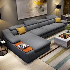 l shaped furniture. Living Room Furniture Modern L Shaped Fabric Corner Sectional Sofa Set Design Couches For