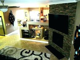 faux stacked stone fireplace fake rock for designs painting over river f