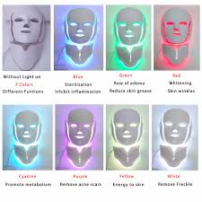 NEWEST 3/7 Colors <b>Photon Electric LED</b> Facial <b>Mask</b> with Neck ...