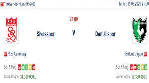 Sivasspor Denizlispor İddaa ve Maç Tahmini 15 Haziran 2020