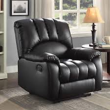 image is loading black leather seat lounge sofa recliner home theater
