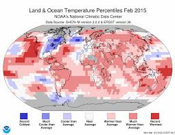 february 2015. Plain February February Blended Land And Sea Surface Temperature Percentiles 2015  With L