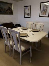 Extending Dining Table And 4 Chairs In Limed Oak In Stoke