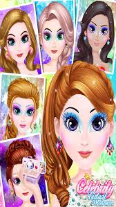celebrity virtual makeup star salon s dress up spa free games screenshot