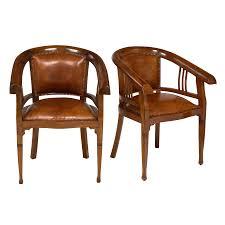 Art deco period furniture Metal Luxury 1930s Austrian Art Deco Period Leather Armchairs Pair Decaso Jeanmarc Fray Luxury 1930s Austrian Art Deco Period Leather Armchairs Pair