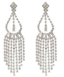 statement victorian chandelier drop clip on earrings