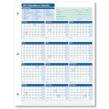 Printable Employee Attendance Calendar Template Attendance