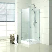 bedroom alluring small glass shower doors 8 door vs curtain or nice enclosure screen rustic