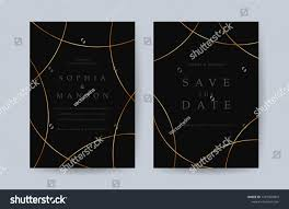 Golden Invitation Card Design Luxury Wedding Invitation Card Design Minimal Stock Vector