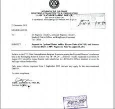 Lto Special Plate For Vehicles Registered Sept 1 Onwards