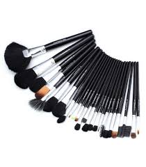 mac makeup brush set 24 pieces black in desh
