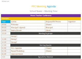 Ptc Meeting Agenda Template Dotxes 334134754245 Free Meeting