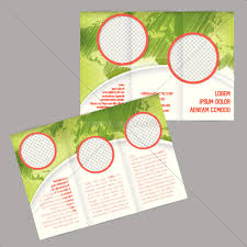 Royalty Free Vector 14240113 Tri Fold Brochure Design With World Map