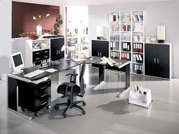 black and white office decor. Home Office Decorating Ideas Furniture With Modern Black And White Theme Design For Small Pictures Decor