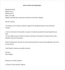 letter of intent for job letter of intent job application template free printable employment