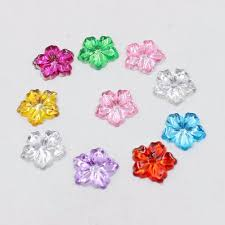 New 100pcs/<b>Lot 13mm Multicolor Peony</b> Flower Design Acrylic ...