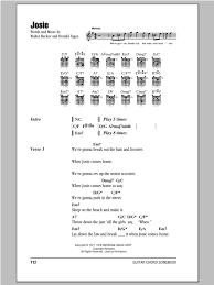 steely dan chord charts josie sheet music by steely dan lyrics chords 93646