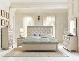 silver bedroom set. homelegance celandine upholstered bedroom set - silver