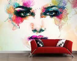 Beibehang 3D photo wallpaper watercolor ...