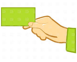 Hand With Blank Business Card Vector Image Of Business Finance