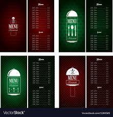 Menu Designs Menu Designs Royalty Free Vector Image Vectorstock