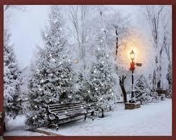 Lighted Central Park Canvas Wall Art Lighted Snowy 40 Fiber Optic Lights Park Scene Christmas