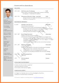Nice Curriculum Vitae Format Samples Pdf Gallery Example Resume