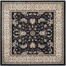 lyndhurst anthracite cream 7 ft x 7 ft square area rug
